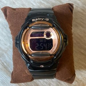 Baby- G Shock! Black and Rose Gold!